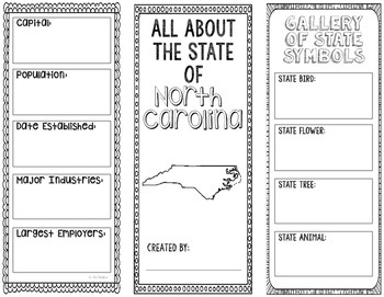 North Carolina - State Research Project - Interactive Notebook - Mini Book
