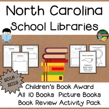 North Carolina Children's Picture Book Award 18 - 19  Book Review Activity Pack