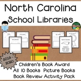 North Carolina Children's Picture Book Award 19 - 20  Book Review Activity Pack