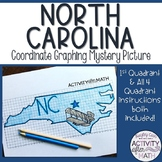 North Carolina Coordinate Graphing Picture 1st Quadrant &ALL 4 Quadrants