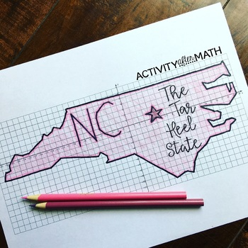 North Carolina Coordinate Graphing Picture 1st Quadrant &ALL 4 Quadrants