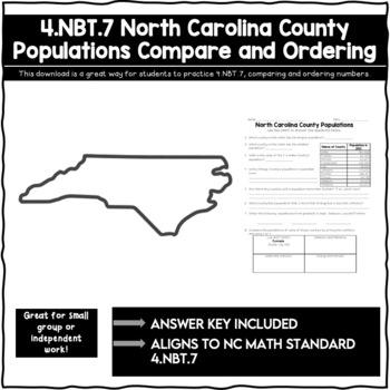 North Carolina County Populations 4.NBT.2