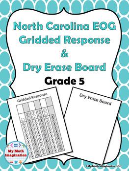 North Carolina EOG Gridded Response & Dry Erase Board Grade 5