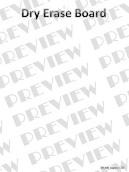 North Carolina EOG Gridded Response & Dry Erase Board Grades 6 - 8