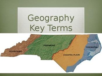 North Carolina Geography Key Terms