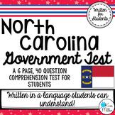 North Carolina Government Test