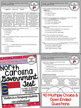 North Carolina Government Test