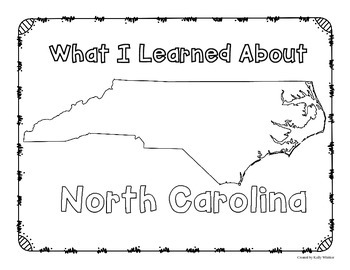 North Carolina Graphic Organizers (Perfect for KWL charts and geography!)
