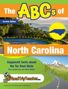 North Carolina Handwriting Printables - Cursive Edition