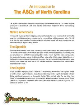 North Carolina Handwriting Printables - Print Edition
