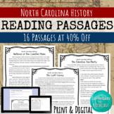 North Carolina History Reading Comprehension Bundle