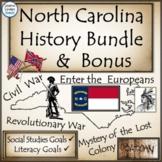 North Carolina History and Literacy  Resource Bundle with Biography Bonus