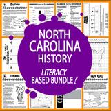 North Carolina History Bundle – NINE North Carolina State Study Lessons!