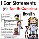 "North Carolina ""I Can"" Posters for 4th Grade Health"