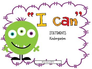 "North Carolina ""I can"" statements-all areas-kindergarten"