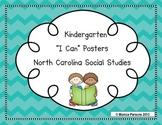 "North Carolina ""I Can"" Social Studies Posters {Kindergarten}"