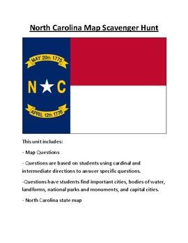 North Carolina Map Scavenger Hunt