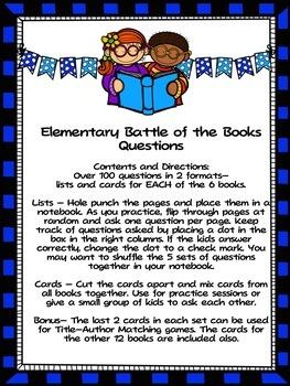 North Carolina  (NC)  Elementary Battle of the Books 2015-2016 BUNDLE