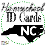 North Carolina (NC) Homeschool ID Cards for Teachers and Students
