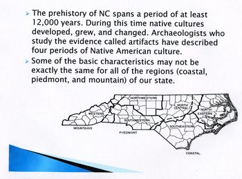 History of NC Native American Cultures