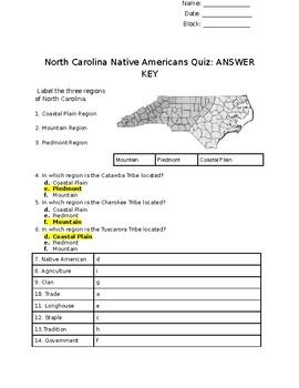 North Carolina Native Americans Quiz