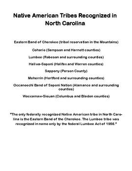 North Carolina Native Americans - The Cherokee