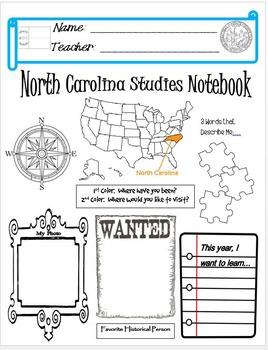 North Carolina Notebook Cover