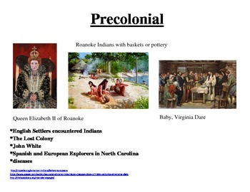 North Carolina History Timeline Wax Museum Resources