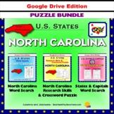 North Carolina Puzzle BUNDLE - Word Search & Crossword - U.S States - Google