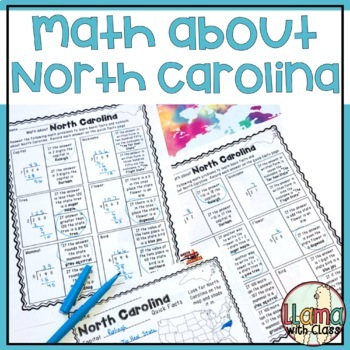 Math about North Carolina State Symbols through Division Practice