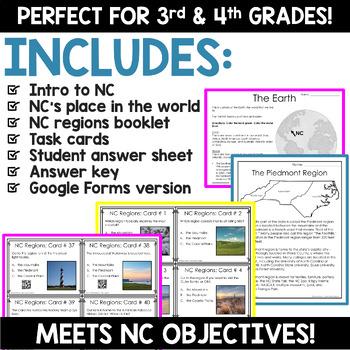 North Carolina Regions Task Cards