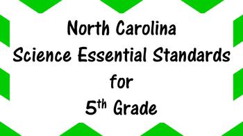 North Carolina Science Standards Standards