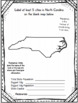 North Carolina State Research Report Project Template + timeline Craftivity NC