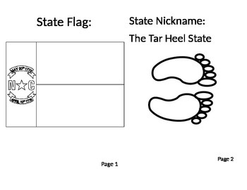 North Carolina State Symbols Booklet