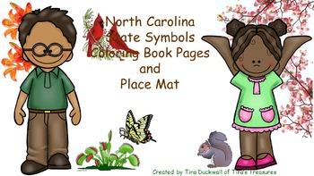 North Carolina State Symbols Coloring Book and Place Mat