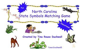 North Carolina State Symbols Matching Game