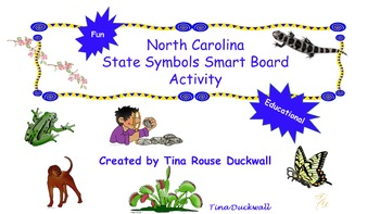 North Carolina State Symbols Smart Board Activity