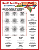 NORTH CAROLINA State Symbols Word Search Puzzle Worksheet Activity