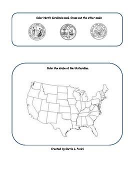 North Carolina Symbols Graphic Organizer/Study Guide