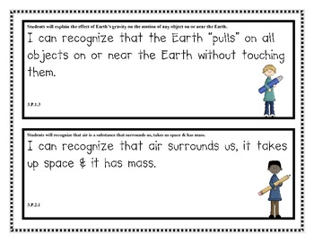 """North Carolina Third Grade """"I Can"""" Posters for Science Ess. Standards"""
