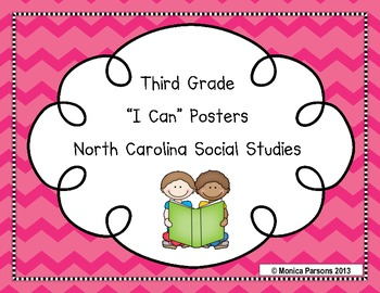 "North Carolina Third Grade ""I Can"" Posters for Social Studies Ess. Standards"