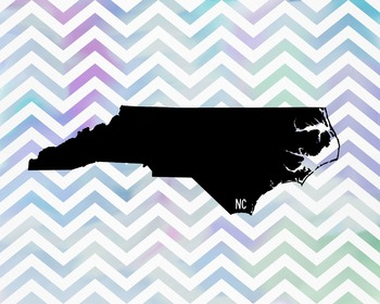 FREEBIE! North Carolina Chevron State Map Class Decor, Cla