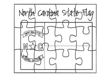 North Carolina flag puzzle