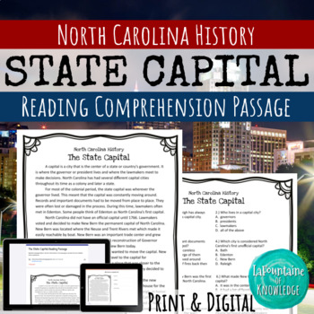 North Carolina's State Capital Reading Comprehension Passage