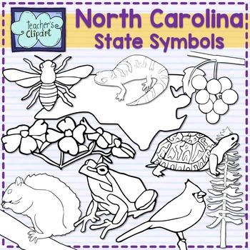 North Carolina state symbols clipart