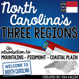 North Carolina's Three Regions: Mountains, Piedmont, Coastal Plain