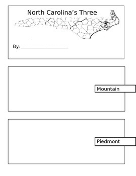 North Carolina's Three Regions Brochure Project