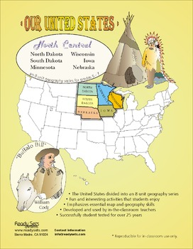 North-Central States-'Our United States Series' 32-Page Booklet