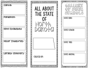 North Dakota - State Research Project - Interactive Notebook - Mini Book