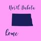 North Dakota Clipart, USA State Clipart, North Dakota Home, Gold US Clipart
